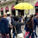 yellow umbrellas for Hong Kong