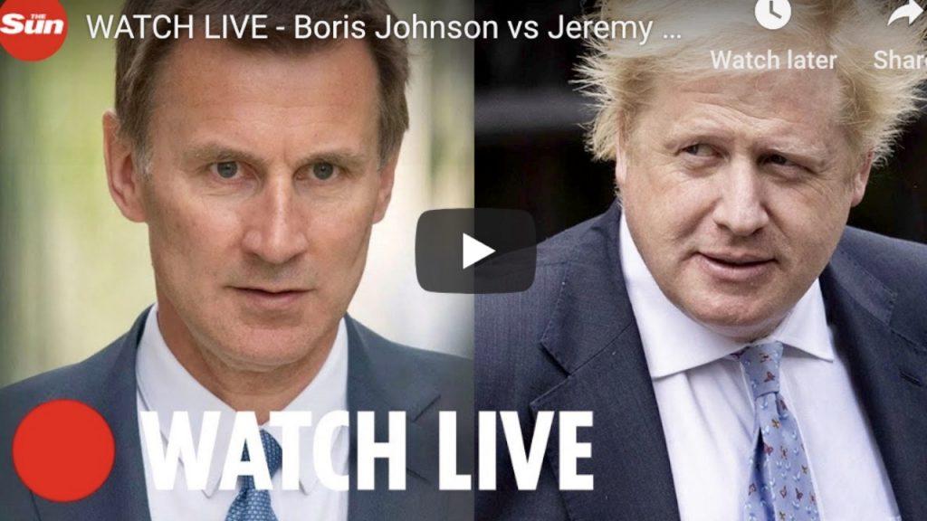 WATCH LIVE - Boris Johnson vs Jeremy Hunt