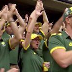 jubilant Australian fans