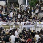 Live - Protesters at Hong Kong Airport