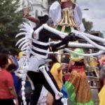 Notting Hill carnival skeleton