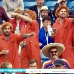 England fans having great day