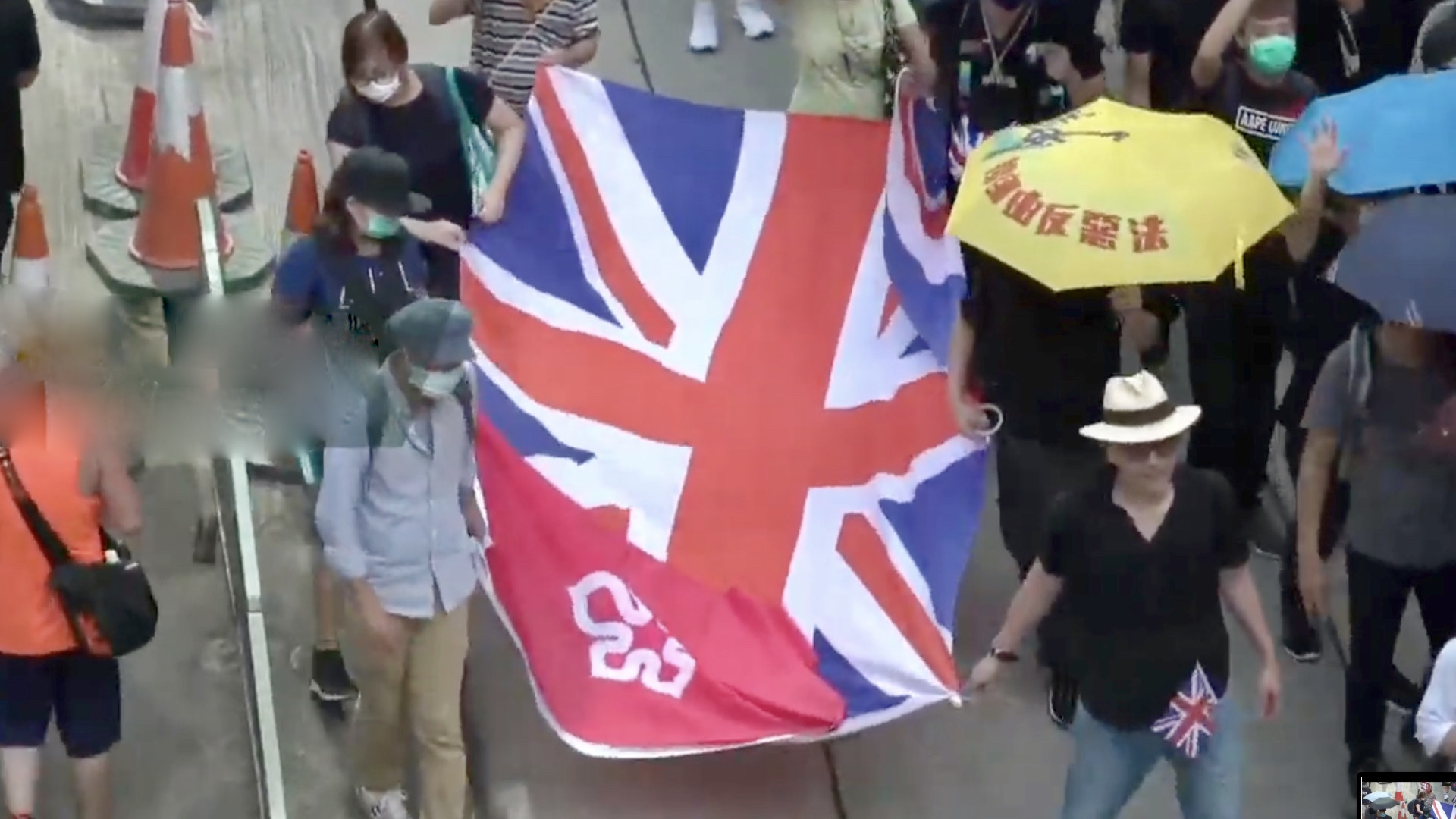 Protesters march against extradition bill in Hong Kong