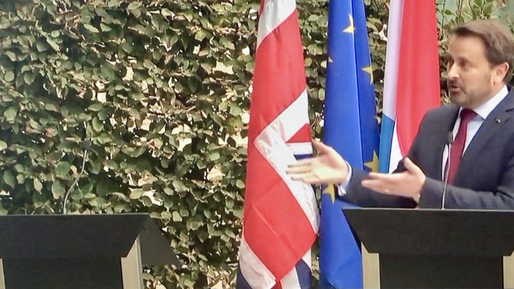 Luxembourg PM at Joint Brexit News Conference Alone