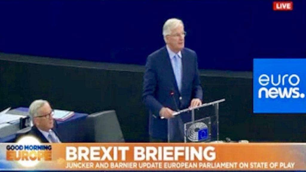 Live | Juncker Barnier Address Euro Parliament on Brexit