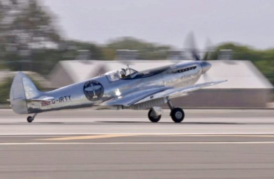 Silver Spitfire On Record Breaking Wor