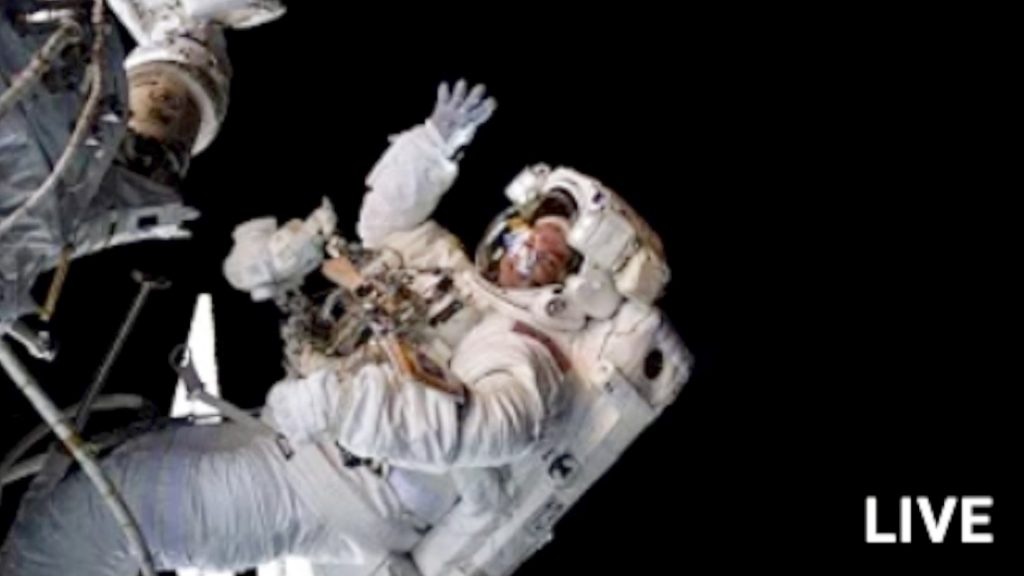 Live Spacewalk Outside the International Space Station
