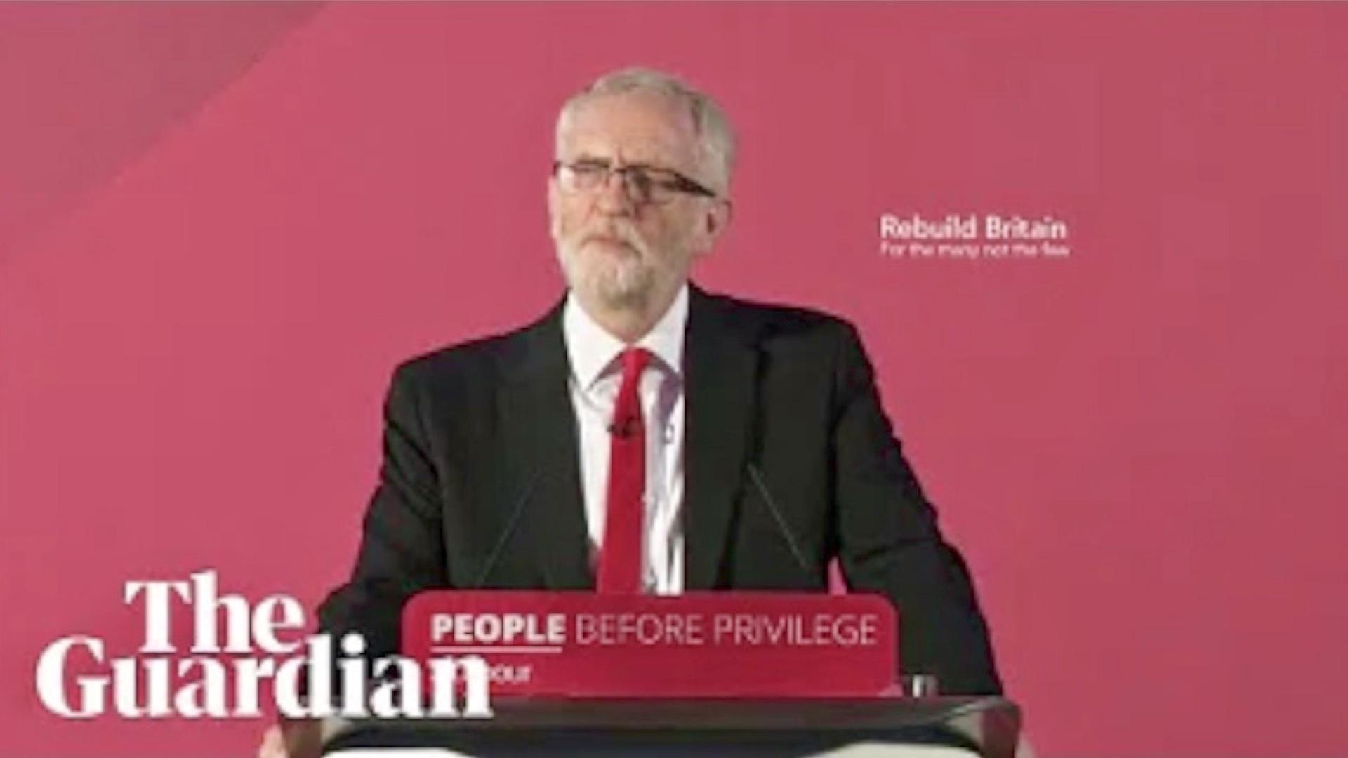 Jeremy Corbyn Speaks of Labour's Plans - LIVE