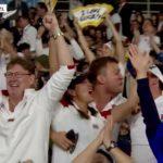 jubilant fans