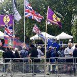 Brexit protestors outside Parliament