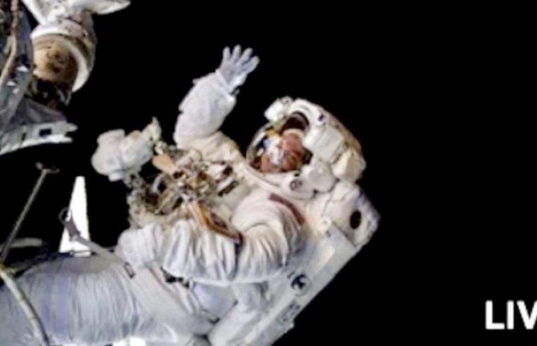 Live Spacewalk Outside the International Space
