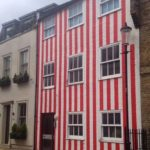 house with stripes