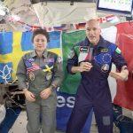 Astronauts Jessica Meir - Luca Parmitano