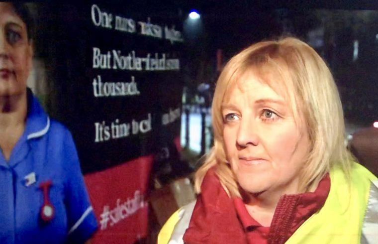 NI Nurses on Strike