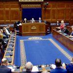 Sinn Féin's Michelle O'Neill - addressing Stormont