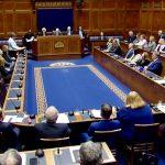 DUP leader Arlene Foster addressing Stormont