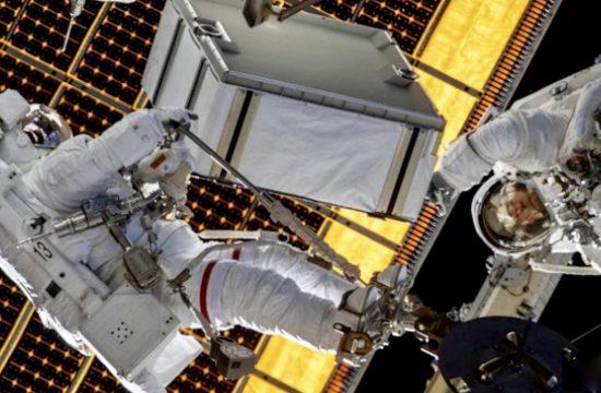 NASA Astronauts Spacewalk Outside ISS