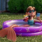 enjoying a dip