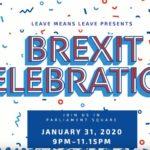 Brexit Celebration Parliament Squ