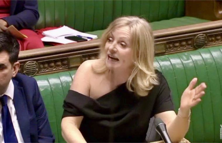 Labour's Tracy Brabin's off-shoulder Dress