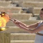 lighting the caldron Athens