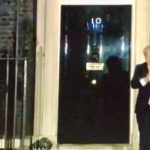 clapping outside Downing Street