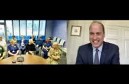 Prince William chats with NHS Nightingale Birmingham