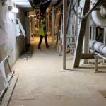 work starts underground