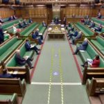 a strict distance in parliament