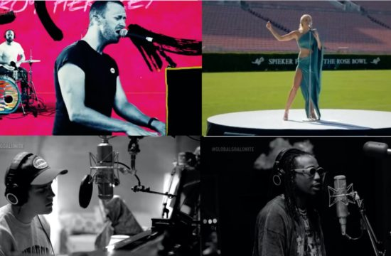 pop stars perform for Global fundraiser