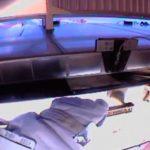 Astronaut Bob Behnken fixing radiator