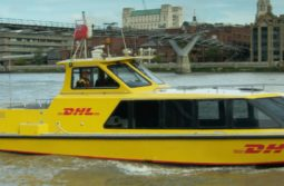 DHL Delivers on the River!
