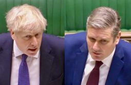 Boris Johnson faces Keir Starmer at PMQS