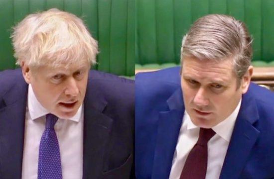 Boris Johnson faces Keir Starmer at PMQS