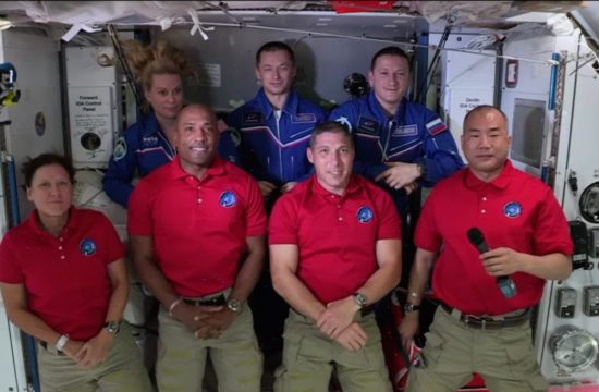 astronauts on board ISS