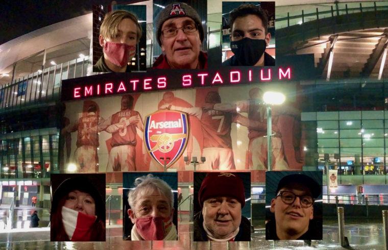 Arsenal fans back after 9 months