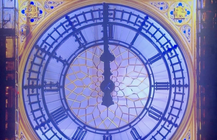 New Year 2021 - sparkle hit skies of London