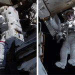 astronauts Mike Hopkins - Victor Glover