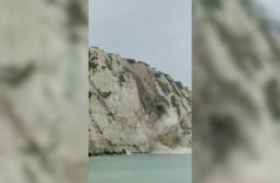 White Cliffs of Dover: section collapses