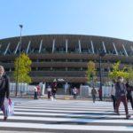 a stadium waiting