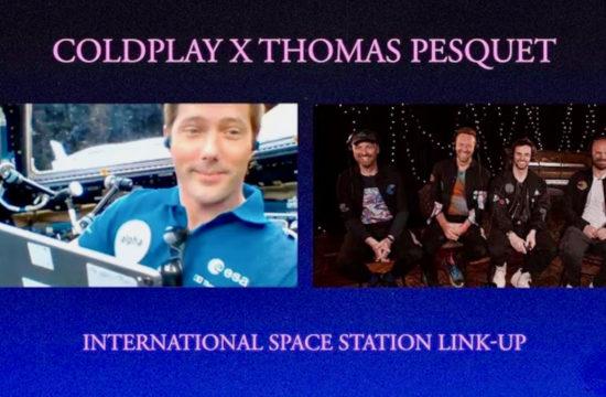 Coldplay x Thomas Pesquet link-up