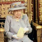 Queen delivering speech