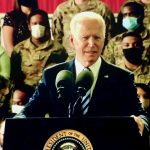 US President addresses troops