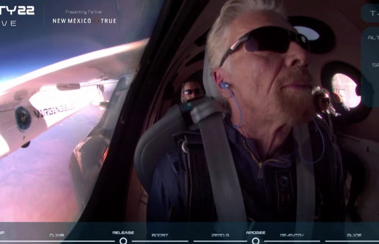 Richard Branson rockets to edge of space
