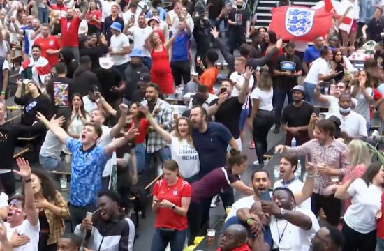 fans gathered Croydon