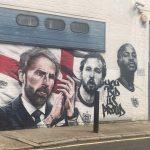 Mural of Englands Euro 2020 heroes appears in London