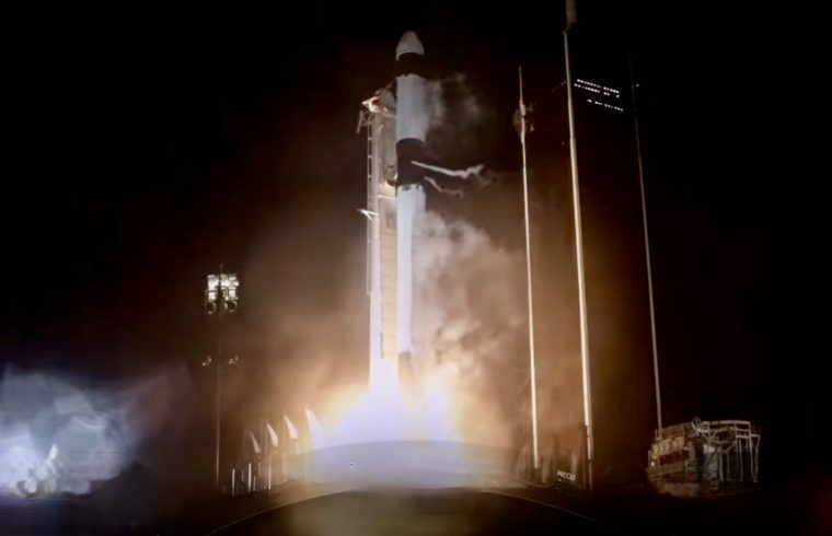 SpaceX rocket lift off