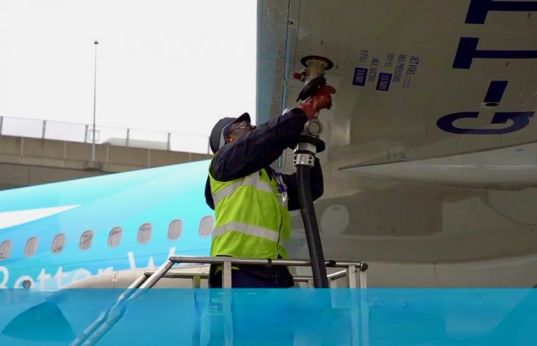 filling up with sustainable aviation fuel