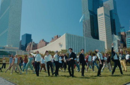 BTS perform Permission to Dance at the UN