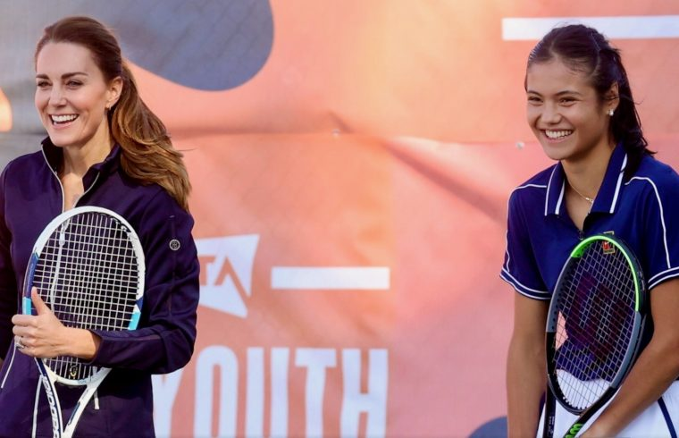 Kate and Emma play tennis